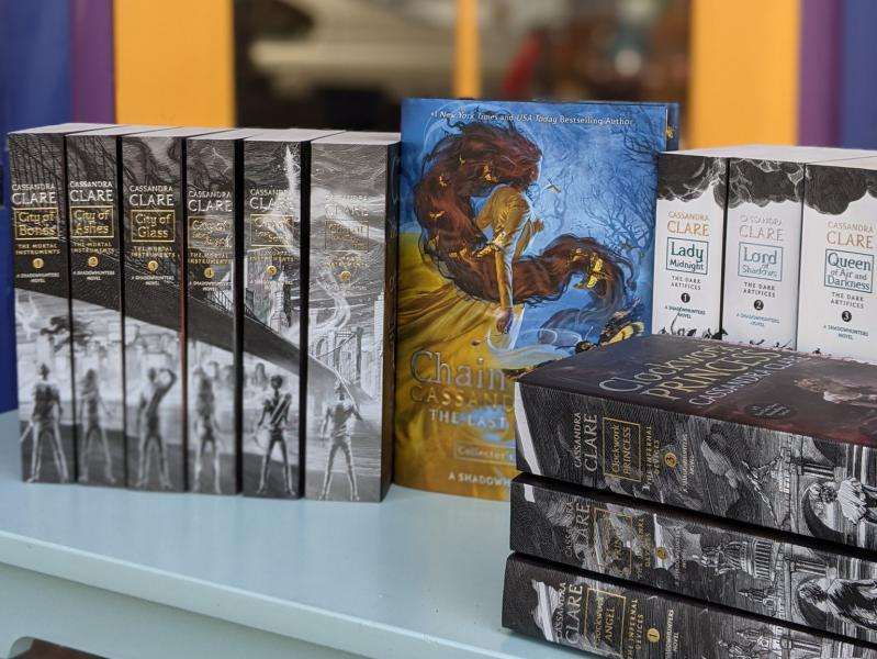 Cassandra Clare books outside by Cassandra Clare